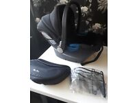 Silver cross simplicity car seat with rain cover
