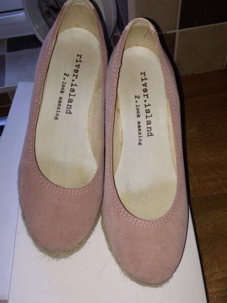 Baby pink coloured wedges