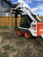 Bobcat, Airdrie area, Post Holes