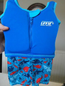 "UPF 50 ""Resist The Rays"" Toddler Life Jacket Bathing Suit - NEW"
