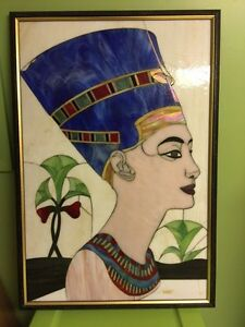 Egyptian stained glass Queen Nefertiti