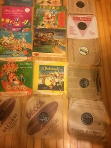 Lot of children's story records. (19x) 78rpm and (10x) 45rpm