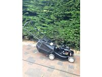 Petrol lawnmower perfect condition very small and light