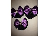 Channel satin bows