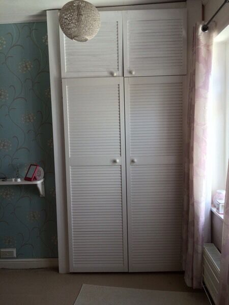 4 Large Amp 4 Small White Louvre Wardrobe Doors From Built