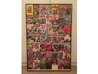 Marvel Comic framed canvas print