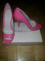 BCBG PUMPS HEELS SHOES  BRAND NEW!!!!! SIZE 10 (IN PINK & BLACK)