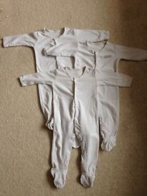 3x 6-9 months baby grows/sleep suits