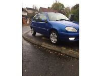 Saxo 1.1 desire same owner for 12 years!!genuine 61k !with a full service history!! mot April 2017