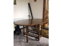 Dark oak collapsable table
