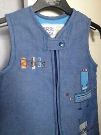 Baby Boy (First Wish) Robot Sleeping Bag. Age 0-12 months. £5**