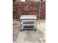 three tier stainless steel trolley