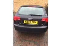 Audi A3 2008 1.6 se black 73500 miles 2 owners Cruise control alloys not golf astra bmw