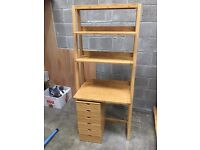 Wooden Desk and matching Draws