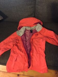 The North Face coral fall jacket