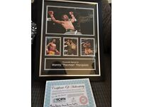 Signed manny pacquiao framed pic