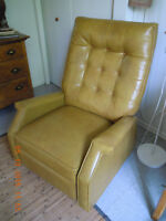 Fauteuil vintage, inclinable