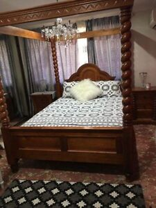 USED brown Queen bed Casula Liverpool Area Preview