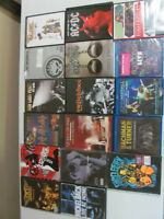 17 rock music dvd's some unopened
