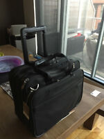 Briggs and Riley Black Expandable Rolling Computer bag