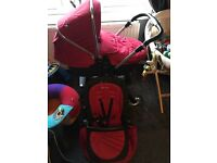 Silvercross wayfarer pushchair with extras chilly red