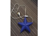 Blue IKEA star light / night light