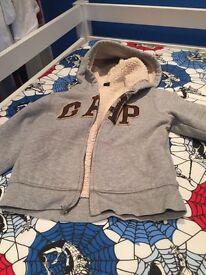 Kids gap zipper fleece age 5