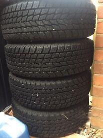 4 x Toyo winter tyres