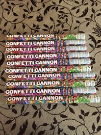 10 Large Confetti cannon's - unused
