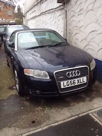 2006 Audi A4 Cabriolet S-Line 2.0 FSI 6 Speed Automatic Blue Soft Top Convertible, Only £2950 Ono