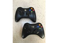 Xbox 360 controllers x2