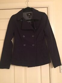 Size 10 H&M thick blacker jacket in navy