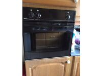 Built in oven with grill and hob