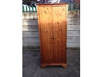 solid pine wardrobe used condition only £45 good bargain call now