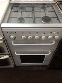 White flavel 50cm electric cooker grill & oven good condition with guarantee bargain