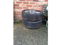 Snow tyres for a Lexus