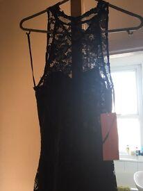 Black floor length lace dress