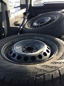 Hercules Avalanche Winter tires with rims- only used 1 season Kitchener / Waterloo Kitchener Area image 1