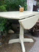 Vintage pedestal fold down table