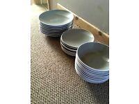 Grey Dinner set 26 piece and 6 matching mugs