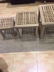 IKEA Skoghall Nest 3 Table BRAND NEW rrp£50