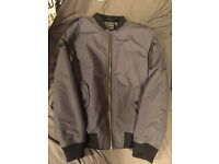 Size L dstruct bomber jacket, grey. Brand new without sale tag