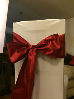 Spandex Chair covers, Centerpieces, tablecloths, sashes and more