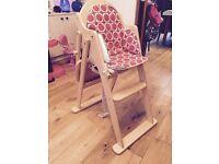 East Coast wooden high chair