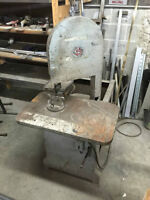 Band saw with over 20 spare blades