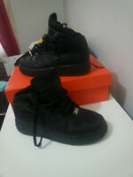 black nike air force high tops size 6Y
