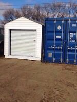 8x 12ft insulated shed with roll up door !!!