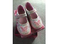 Lelli Kelly Silver Glitter shoes size EU 28