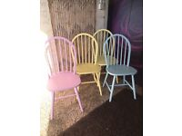 Set of 4 dining chairs Bright Colour Chairs