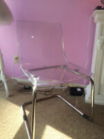 clear chair from IKEA